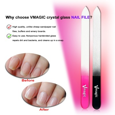 Crystal Gl And Manicure Nail Files With 4 Ways Polish Sanding File Block Black